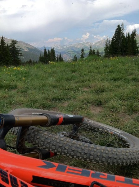 bikerumor pic of the day Top of the 401 Trail in Crested Butte with an afternoon rain storm rolling in.