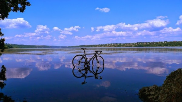 bikerumor pic of the day ride to the Nistru river in central Moldova.