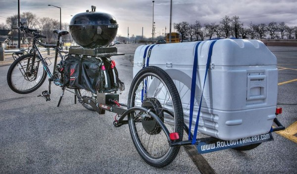 Rollout Trailers Brouhaha Zero Towing Force Self Propelled Tailgating With Beer Cooler And Grill