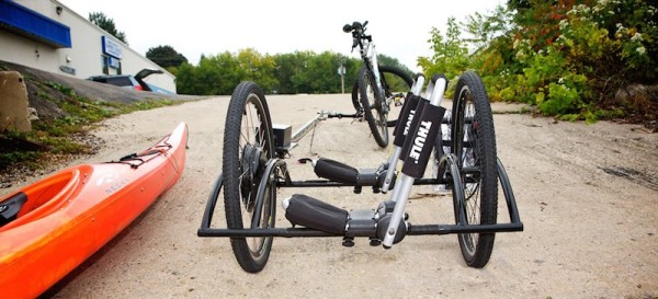 Rollout Trailers Brouhaha Zero Towing Force Self Propelled With Kayak And Thule Rack