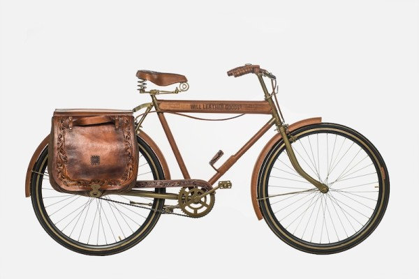 WILL Leather Goods One Of A Kind Bike Series Leather Bicycle #1 Full View Drive Side