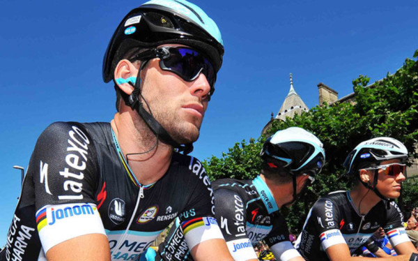 New Oakley sunglasses found on pro cycling Mark Cavendish during 2014 Tour de France