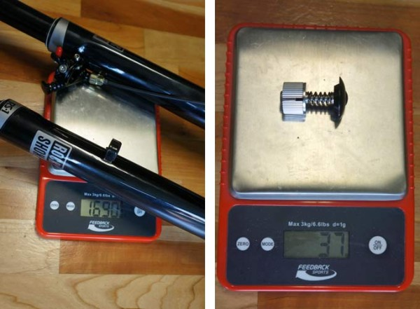 Rockshox RS-1 inverted suspension fork review and actual weights