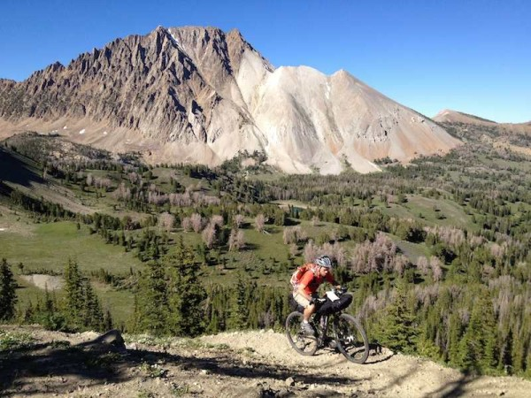 bikerumor pic of the day Idaho's White Cloud Mountains. Castle Peak in the background.