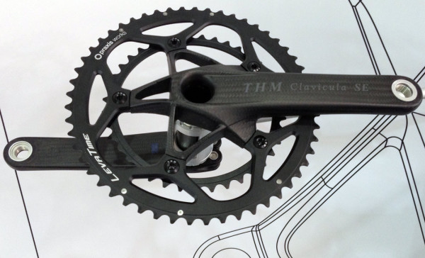 THM_Clavicula_SE_all_carbon_ultralight_crankset_with_praxis_chainrings