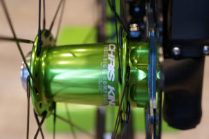 Chris King Lefty Front Hub in sour apple green