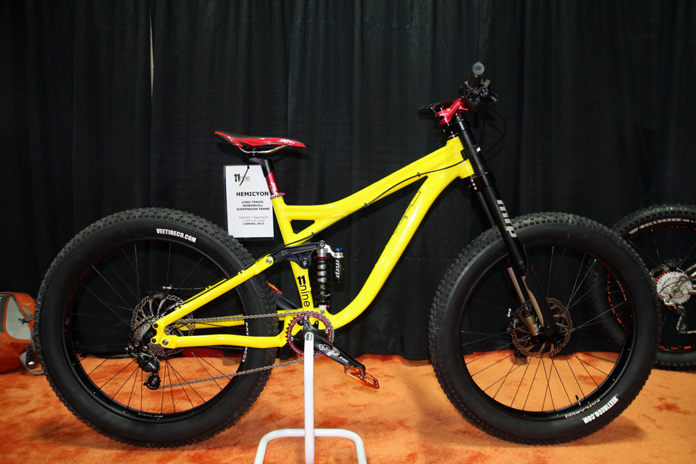 IB14: 11Nine Introduces Long Travel Full Suspension Fat Bike, Teases ...
