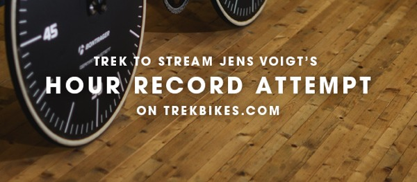 trek live stream jens voight hour record attempt 2014