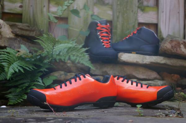 Giro Empire VR90 MTB lightweight mountain bike shoes and Alpineduro winter cycling boots