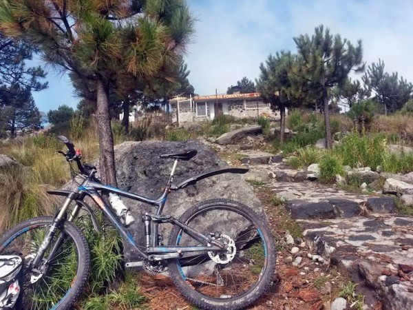 bikerumor pic of the day This is on top of Cerro San Miguel (alt. 3750m) in the National Park Desierto de los Leones near Mexico City. Great mountain biking!