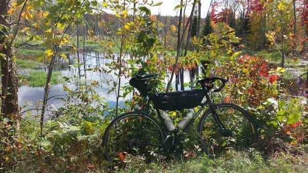 bikerumor pic of the day This past weekend was the inaugural Skull & Bones Gravel Challenge in Rusk county, WI.  This is along the Tuscobia trail.