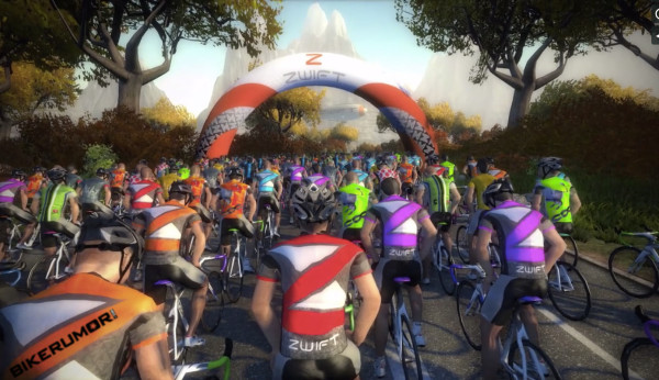zwift real time massively multiplayer online cycling video trainer game lets you race friends live on the internet