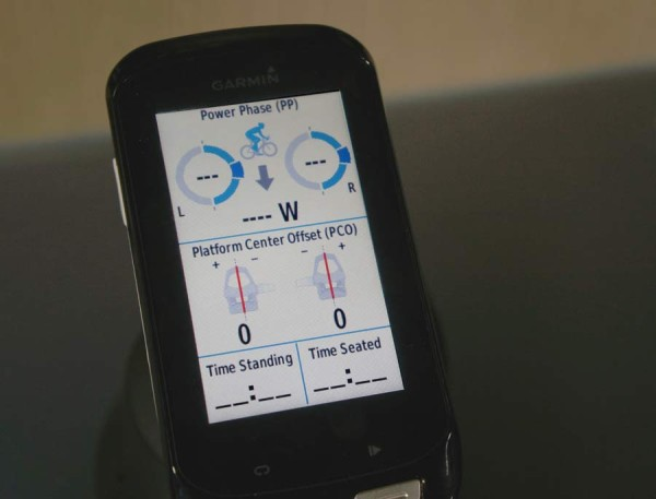 Garmin Vector power meter pedals now measure power stroke and cleat pressure offset and time seated and standing