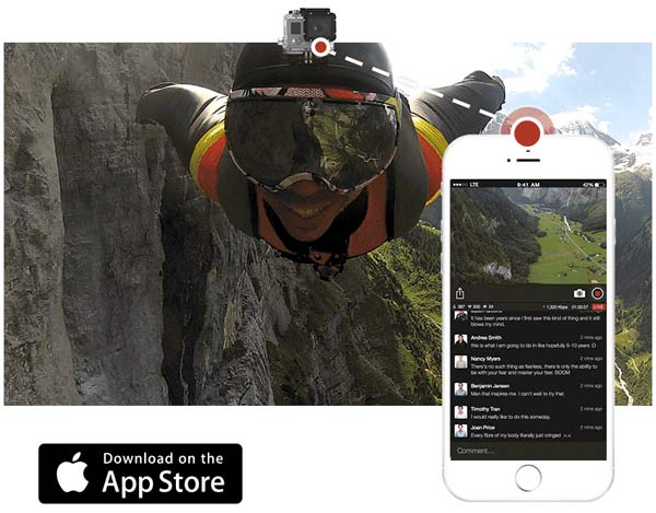Livestream app streams footage from GoPro Hero4 live on the internet