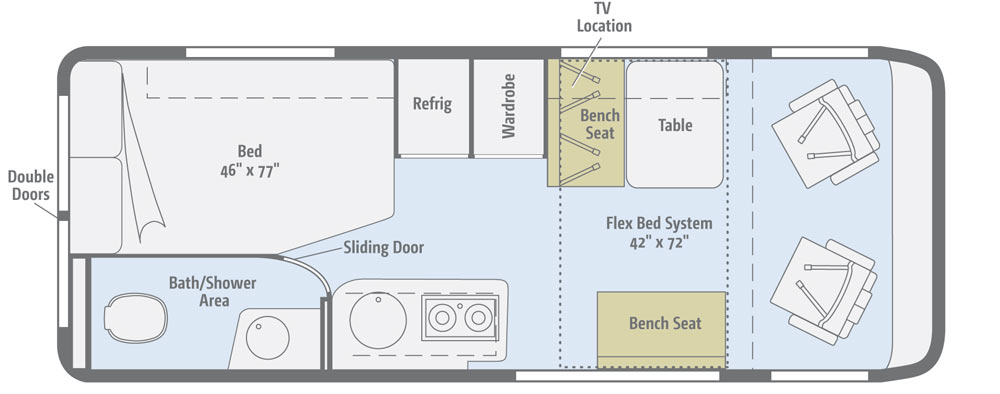 plan for two bedroom flat