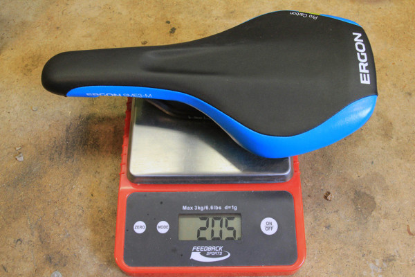 Ergon GE1 SME3 PRo carbon saddle review weight (2)