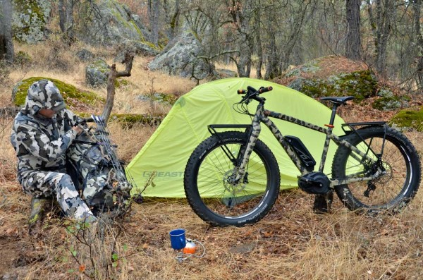 Felt Outfitter electric fat bike mountain bike for hunters fishers and outdoorsmen