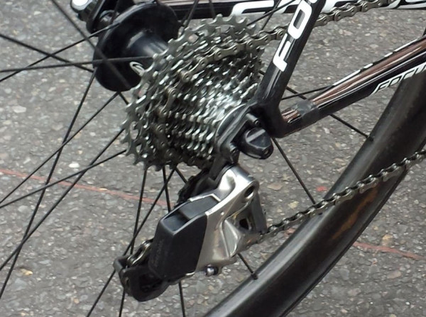 SRAM Red wireless electronic road group closeup photos from Gravel Cyclist at Tour Down Under 2015