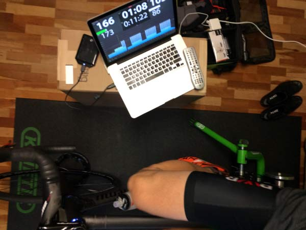 review of TrainerRoad online cycling training software with real time sensor integration