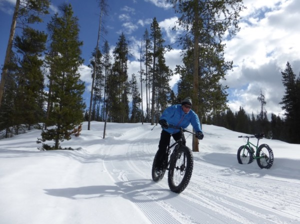 bikerumor pic of the day fat biking turpin meadow ranch in buffalo valley, wyoming