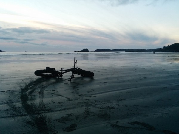 bikerumor pic of the day Hope you like my picture taken this weekend from Tofino BC, cruising Chesterman Beach at sunset.
