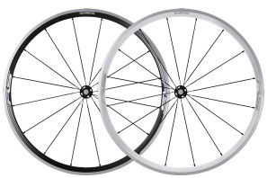 Shimano_30mm_aluminum_clincher_wheelset_front_wheel_black_silver_WH-RS330-CL