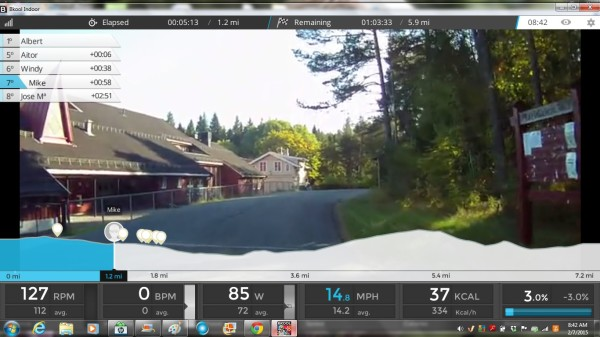 bkool video screenshot