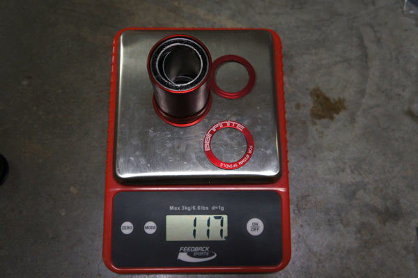 BBinfinite one-piece pressfit bottom bracket review and actual weight