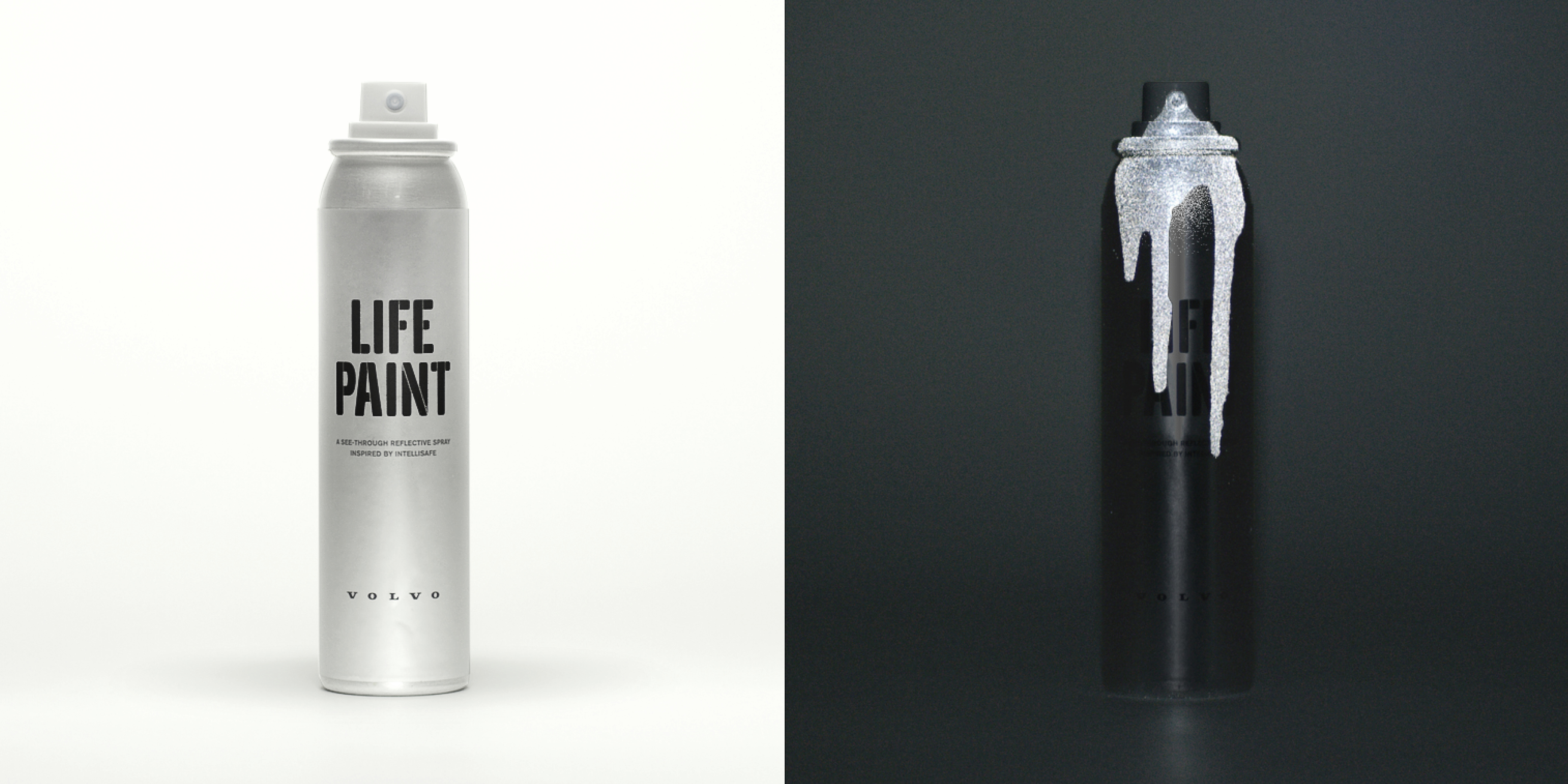 Volvo albedo 100 grey london team up for life paint for Spray paint safety