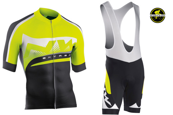 Northwave_Extreme_Graphic_short-sleeve-cycling-jersey_bib-shorts_fluorescent-yellow_high-vis