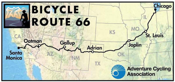 adventure cyclist route 66 bicycle maps guide