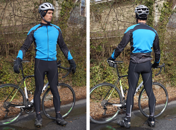 Funkier micro fleece winter cycling bib tight pants and long sleeve jersey review