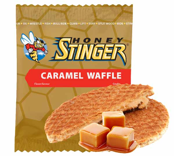 honey stinger caramel waffle stroopwafel for cyclists and athletes