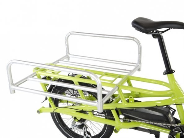 Yuba Spicy Curry electric cargo bike truck bed attachment