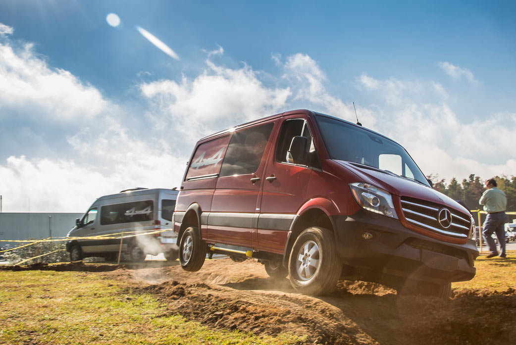 new 2015 mercedes sprinter diesel 4x4 is the dream vehicle outside van makes it real bikerumor. Black Bedroom Furniture Sets. Home Design Ideas