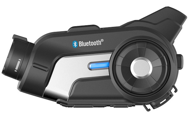 Sena 10C video camera and bluetooth intercom device, side shot