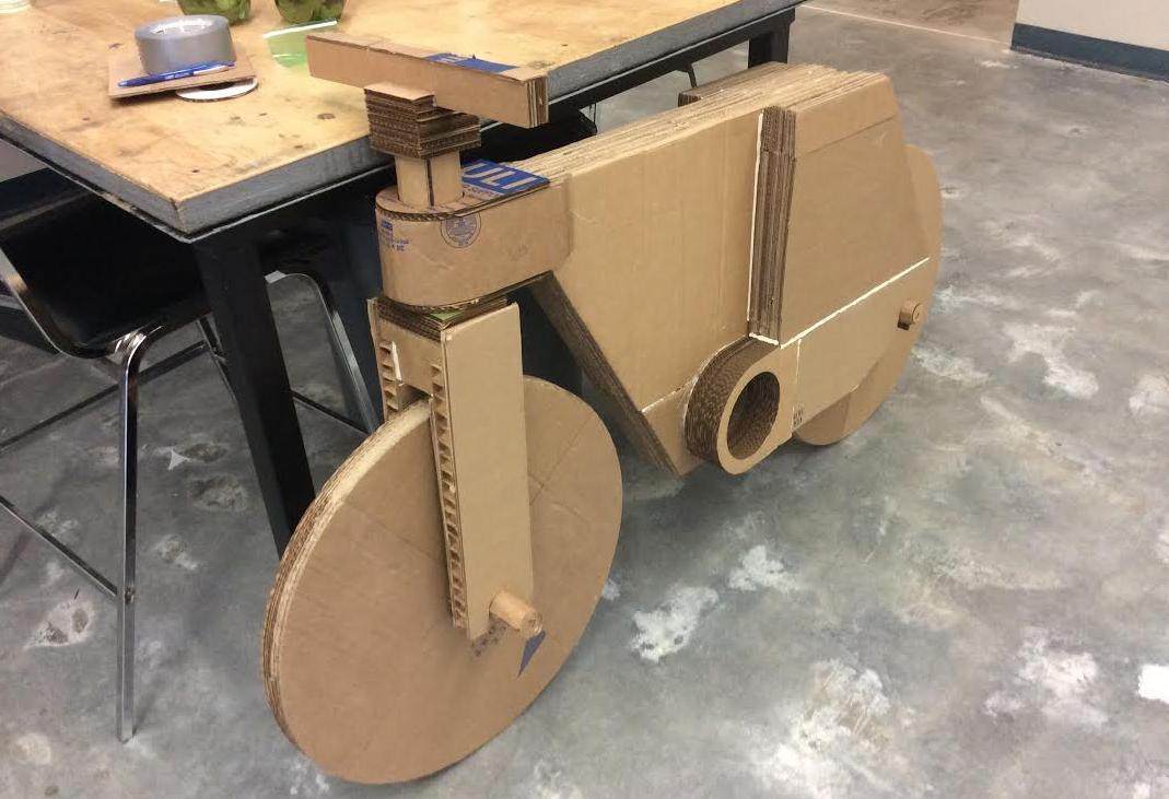 A cardboard bike with 3d printed parts and aero bike s for How to build a box beam