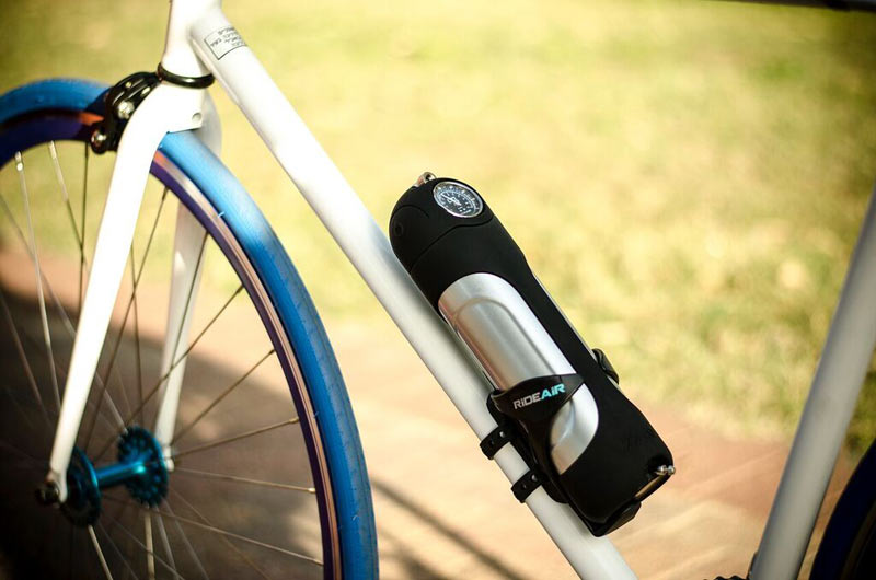 Rideair Compressed Air Canister Fills Tires Immediately
