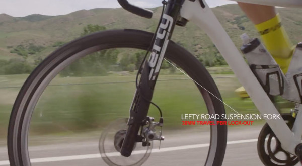 2016 Cannondale Slate gravel road bike with Lefty Oliver suspension fork and 650B wheels