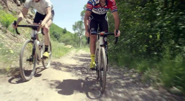 prototype 2016 Cannondale New Road gravel road bike with Lefty suspension fork