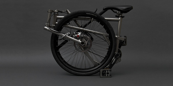 Helix Folding Bike, folded up