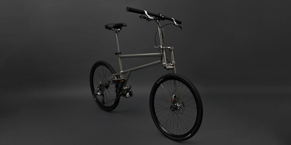 Helix Folding Bike, front view