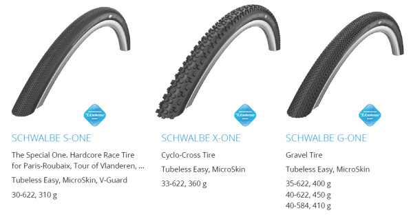 Schwalbe tubeless tires g one