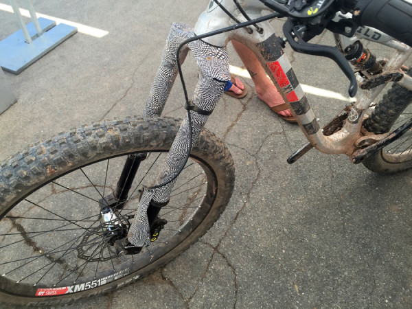 Prototype long-travel inverted suspension fork spotted ...