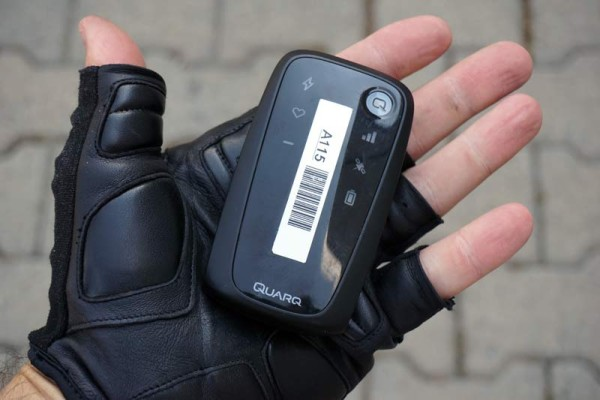 Quarq Qollector ANT+ data collector and GPS tracker sends ride data to the cloud with 4G cell data