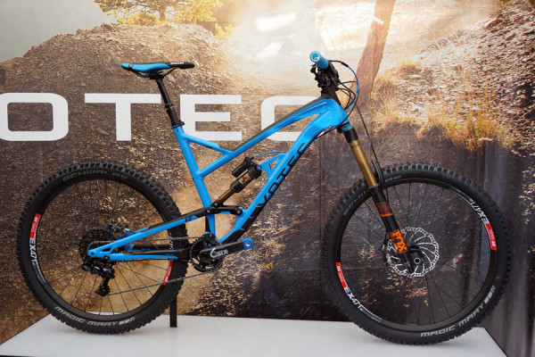 2016 Votec VE enduro full suspension mountain bike with adjustable travel and geometry