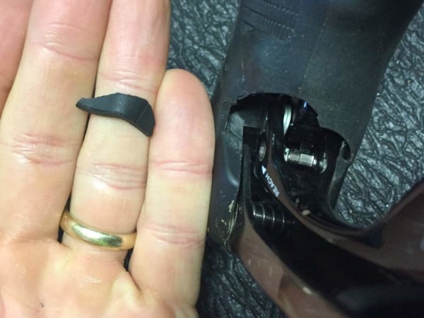 how to prevent sram double tap shifter levers from sticking at the top of the shift