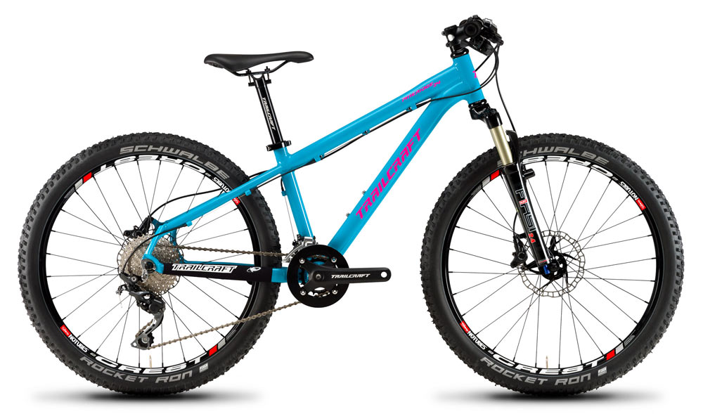 Trailcraft Pineridge premium youth 24inch mountain bikes in new turquoise color
