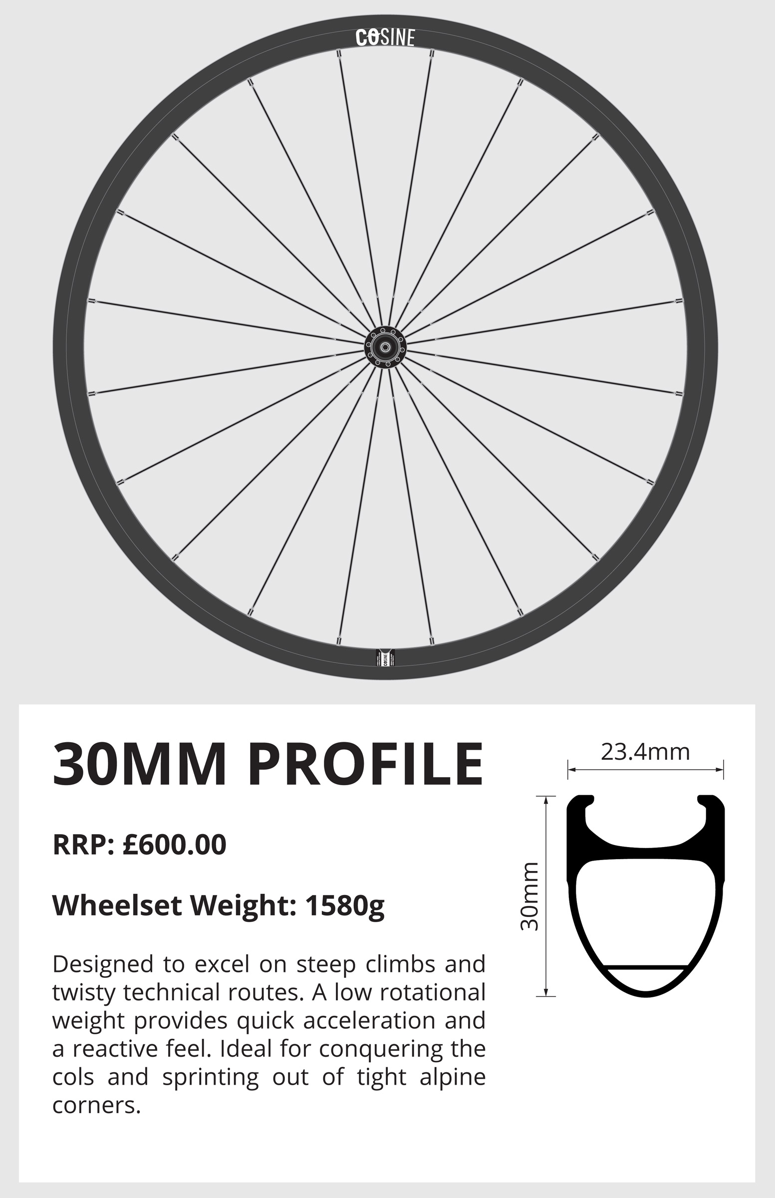 new cosine brand debuts aluminum carbon road wheels from wiggle bikerumor. Black Bedroom Furniture Sets. Home Design Ideas