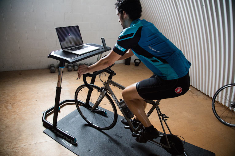 wahoo cycling standup desk for athletes